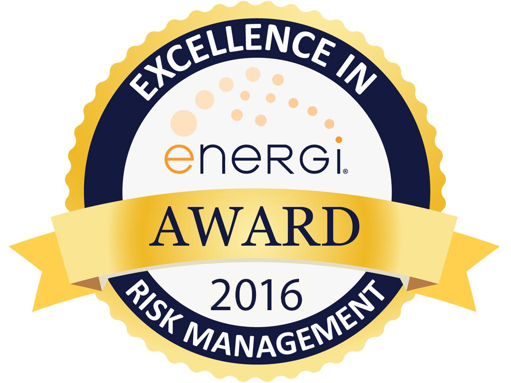 Energi 2016 Excellence in Risk Management